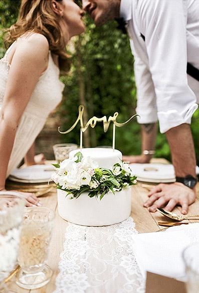 cake topper dessert mariage